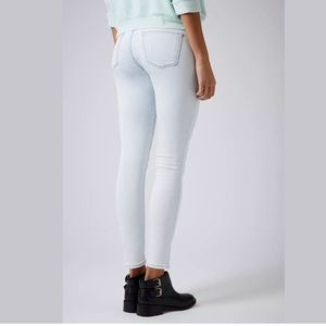 Topshop Moto Leigh Light Bleached Skinny Leans